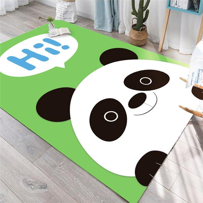 Grand tapis tapis pour salon 3D tapis animaux de bande dessinée enfants chambre tapis de jeu doux flanelle mousse à mémoire