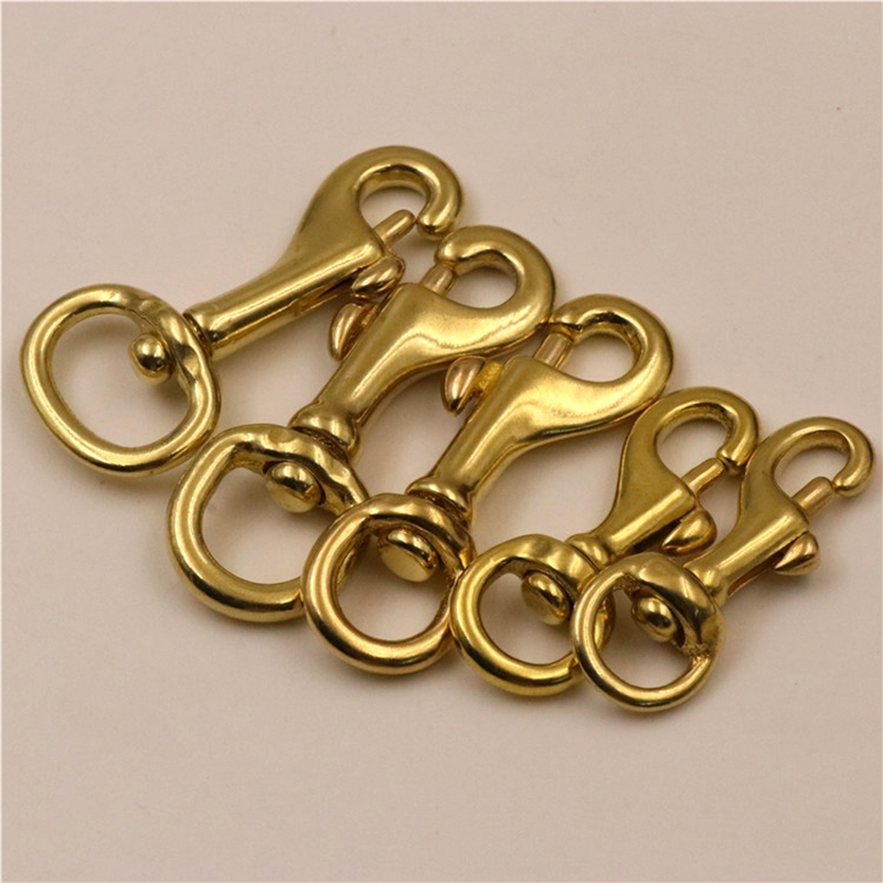 Solid Brass Lobster Trigger Swivel Clasps Dog chain Clips Leather Leash Clasp