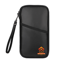 Pouch Passport-Holder Silicone-Coated Document-Bag And with Zipper Fiberglass Waterproof-Bag