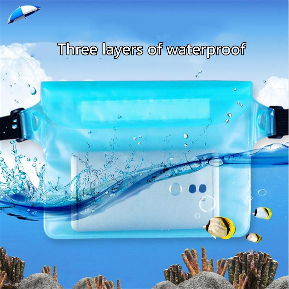 HiMISS Outdoor Sports Fanny Pack for Swimming Diving 3-layer Sealed Waterproof Touch Screen Bag