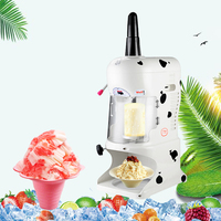 Automatic Crushed Snowflake Shaved Ice Machine Electric Ice Block Crusher Commercial Ice Shaving Machine For Home Shop Use