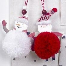 Christmas Plush Pendant Xmas Ornaments Tree Ornament Holiday Window Party Decor DIY Craft Home DecorationsGM