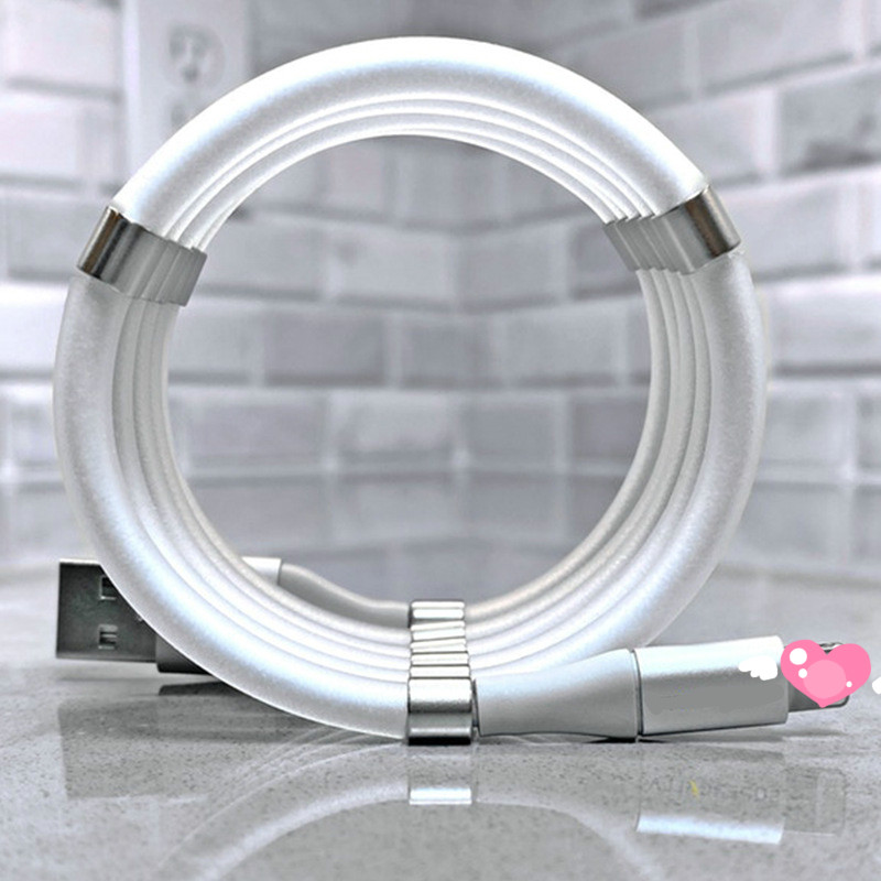 <font><b>3in1</b></font> Magnetic Absorption Data Charger <font><b>Cable</b></font> 360 Degree Magnetic Charging <font><b>Cable</b></font> For Android iPhone Type-c Quick and easy storage image