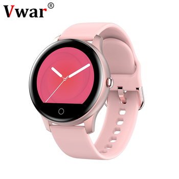 Vwar Galaxy Fitness Watch Bluetooth Call Music Play Heart Rate Monitor Active 2 Women Smart Watch for Samsung Xiaomi IOS Phone