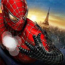 Высокое качество, костюм супергероя, нарядное платье для взрослых, мужчин, детей, костюм на Хэллоуин, красный, черный, спандекс, 3D, косплей, одежда