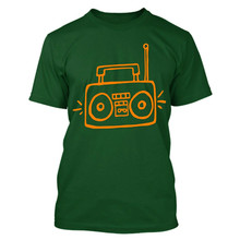 Big Boom Box I Love The 80'S Music T Shirt Tee Men Clothes Tee Shirt(China)