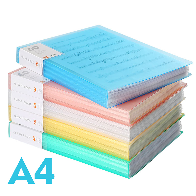 A4 File Folder Information Book Paper Clip Folder Student Folders Bag Multi-Layer Transparent Document Folder A4 Office Supplies 2