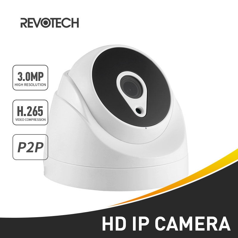 HD 3MP H 265 Indoor IP Camera 1296P 1080P Dome 24 LED IR Security Camera ONVIF Night Vision P2P IP CCTV Cam with IR Cut in Surveillance Cameras from Security Protection