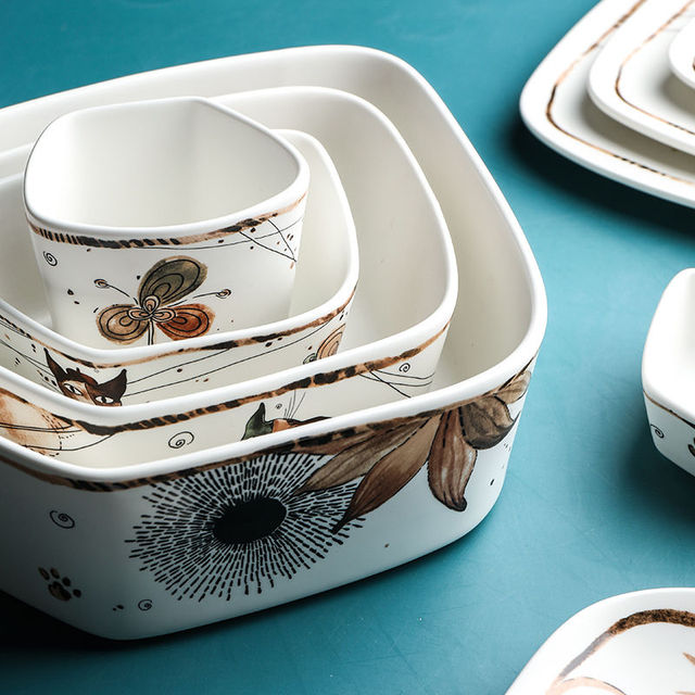 Cute Cartoon Cat Ceramic Tableware  6