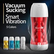 My9colors masculino masturbação copo toque em macio real sensação masturbador sucção a vácuo 20 freqüência vibração brinquedos sexuais para homem