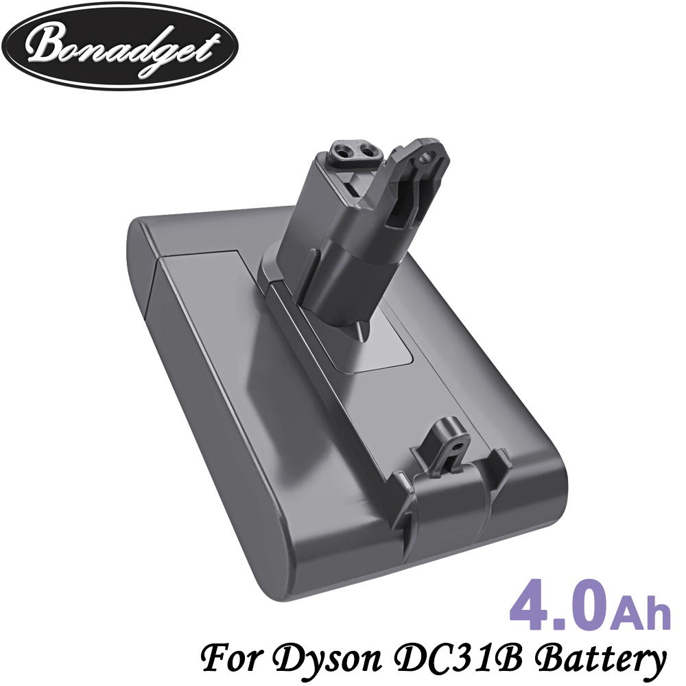 Bonadget Replacement 22.2V 4000mAh DC31 Type-B Battery For Dyson DC31 DC31B DC35 DC44 DC45 Handheld Power Tool Battery