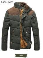 Men's Custom Thicken Coats Printed Men Winter Casual Jacket Regular Man Outdoor Wear Male Warm Zipper