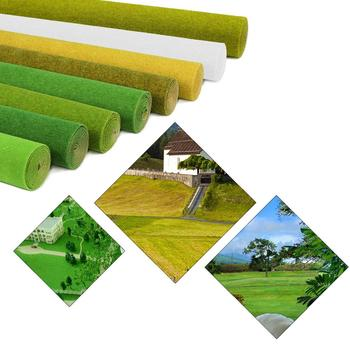 0.4mX1m Grass Mat Model Green Artificial Lawns Turf Carpets for Architectural Model Scenery Train Layout HO O N scale