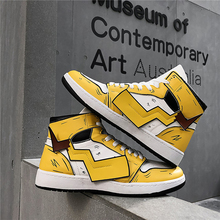 COOLVFATBO Mens Pikachu Shoes Sneakers Autumn Winter PU Leather Classic High Top Men Vulcanized Shoes Casual Mens Boots Male