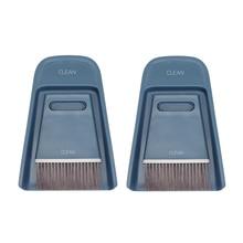 Counter Brush Coffee-Machine-Brush Bar Mini 2-Pack Combination Broom Dustpan And