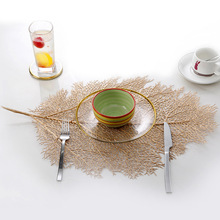 Creative Coral Brunch Cup Pads Fan Hollow Mats Table Dish Spoon Holder Placemat Kitchen Decor Dining Simulation Plant
