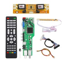 AAAE Top-5 OSD Game RR52C.04A Support Digital Signal DVB-S2 DVB-C DVB-T2/T ATV Universal LCD Driver Board USB Play Media 30Pin 6(China)