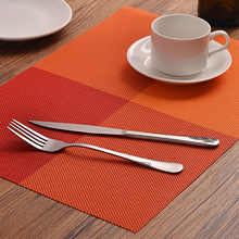 Placemats Runner Dining-Table Heat-Resistant Washable Plastic Anti-Skid 4pcs PVC
