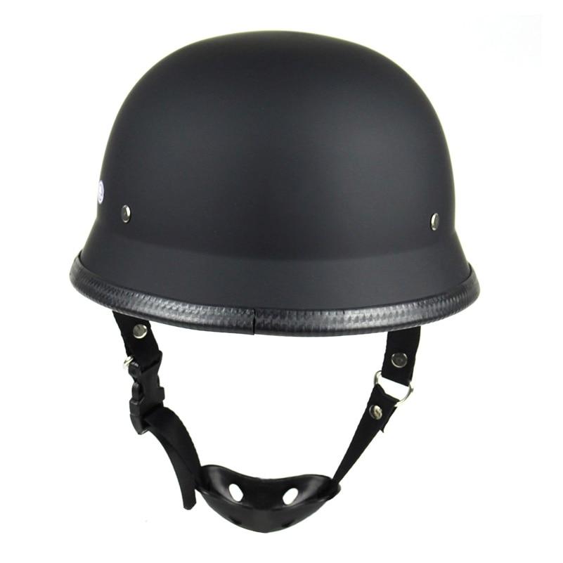 DOT Motorcycle Half Face Helmet  For Harley Vintage Half Face Helmet Retro German Chopper Cruiser Matte .