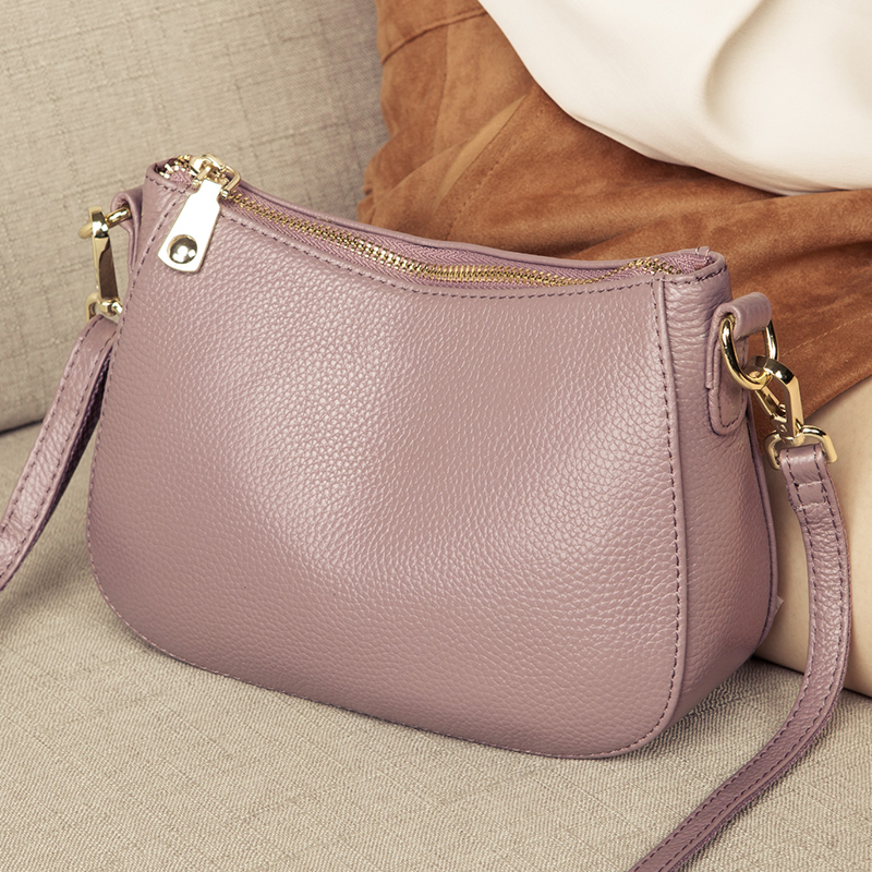Genuine Leather Small Ladies Crossbody Bags Female Casual Shoulder Messenger Bags For Women Luxury Handbag Fashion Clutch Purse