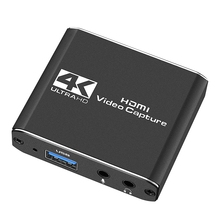 Audio Video Capture Card with Microphone 4K HDMI Loop-Out,1080P 60Fps Video Recorder for Switch/PS5/ One/PC/Video