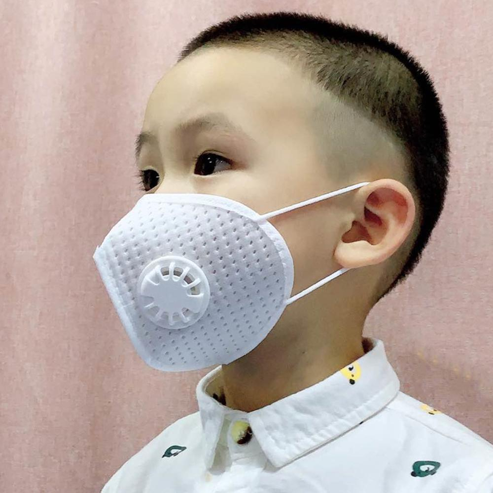 KN95 Mask Child Mask Teen Mask FFP2 with valve round mask non-woven Dust Mask Anti PM2.5 Breathing Face Safety Masks in stock