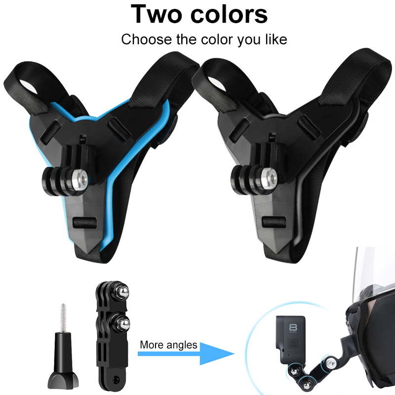 Motorcycle Helmet Chin Stand Mount Holder for GoPro Hero 9 8 7 6 5 4 3 Xiaomi Yi Action Sports Camera Full Face Holder Accessory 6