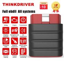 THINKCAR – Thinkdriver Scanner professionnel pour voiture, outil de Diagnostic automobile, avec 15 services de réinitialisation, Bluetooth, prise Obd2