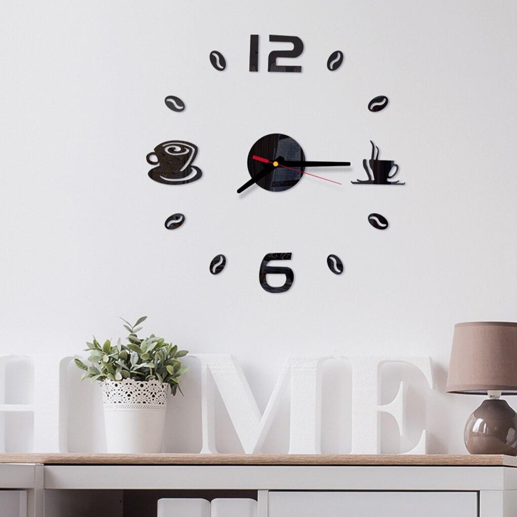Self-Adhesive Wall Clocks 3D DIY Acrylic Mirror Stickers Home Bedroom Decoration Living Room Decor(China)