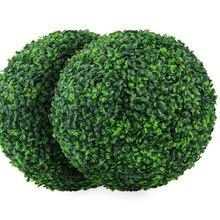 Venda quente 4 camadas artificial planta topiary bola falso boxwood bolas decorativas para quintal varanda jardim casamento e decoração de casa
