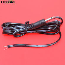 cltgxdd 3.5mm Mono Stereo Headset male Plug with cable 2 pole 3.5 mm Audio Jack Adapter Connector length:1.5m