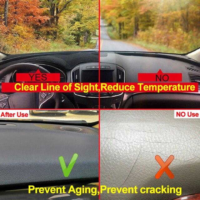 2 Layers Car Auto Dashboard Cover Carpet Cape For Hyundai Grandeur Azera 2006 - 2011 LHD RHD Rug Dash Mat Dashboard Pad Anti-UV