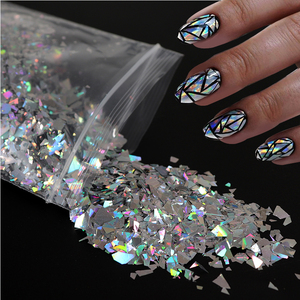 10g Holographic AB Nail Sticker Shell Sparkly Sequins Irregular Paillette DIY Gel Polish Manicure Nail Art Decorations(China)