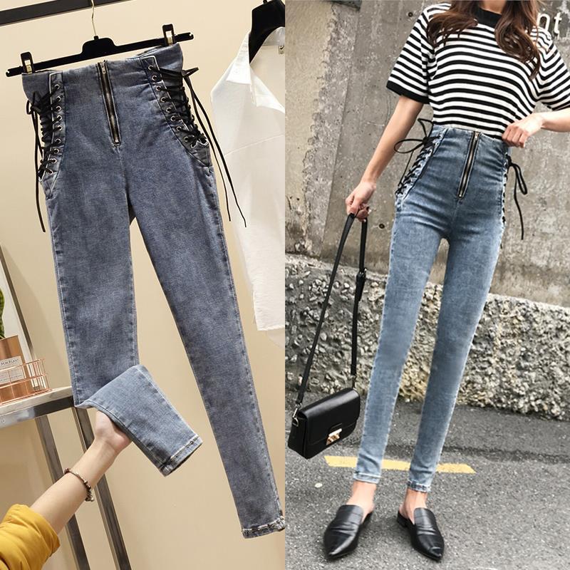 Hot Sell Jeans For Women Skinny High Waist Jeans Woman Blue Denim Pencil Pants Stretch Waist Women Jeans Pants Plus Size
