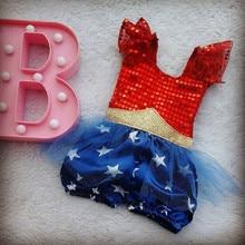 Bebé recién nacido 4th-of-july Romper 2020 verano ropa linda para bebés niñas niños lentejuelas de estrella patriótico Romper mono
