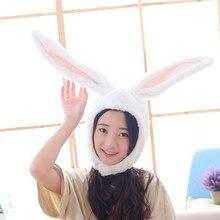 Chapeau en peluche oreilles de lapin pour femmes et hommes, chapeau à capuche, accessoire de Costume de Cosplay oriental, couvre-chef, accessoires de fête d'halloween