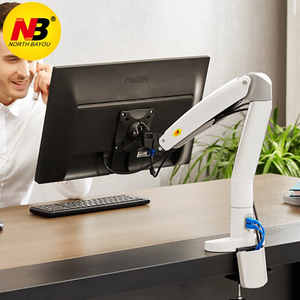 Image 5 - NB F100A Gas Spring Arm 22 35 inch Screen Monitor Holder 360 Rotate Tilt Swivel Desktop Monitor Mount Arm with Two USB Ports