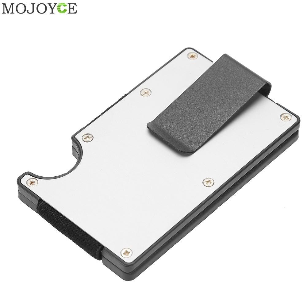 Модный органайзер для банковских карт, алюминиевый тонкий металлический кошелек из углеродного волокна, зажимы для кошелька, аксессуары дл...