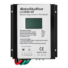 MakeSKyBlue 2000 Вт 48 в регулятор заряда ветра для 2KW переменного тока ветряной турбины генератор IP67 Водонепроницаемый Контроллер заряда ветровой энергии(LC2000-48
