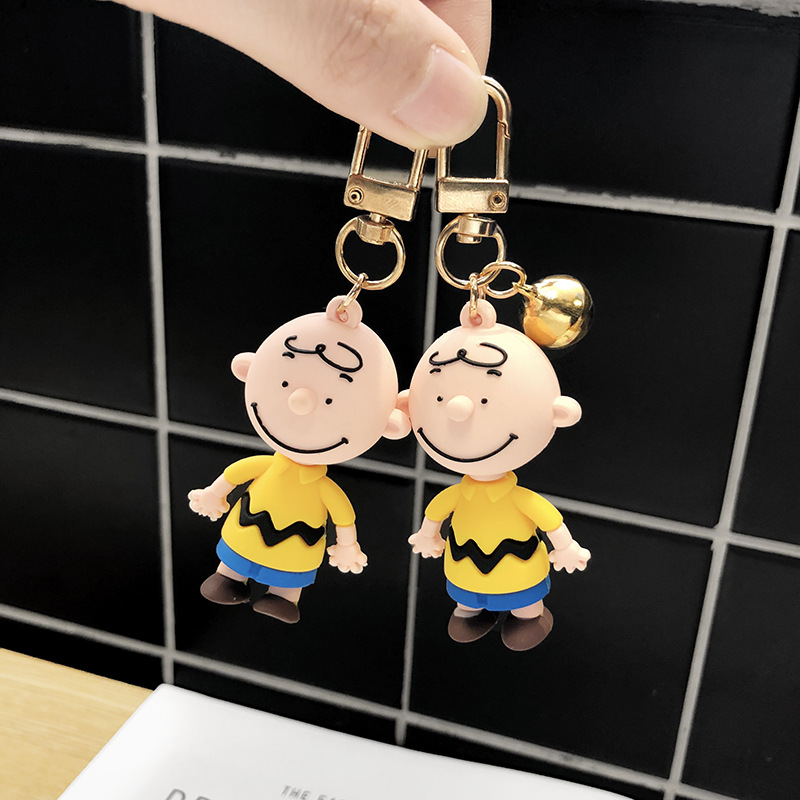 New 2019 men and women Key Chain Charly Brown Cartoon Peanut Dolls Desk Accessories Key Bag Naughty Figure Give Gift in Key Chains from Jewelry Accessories