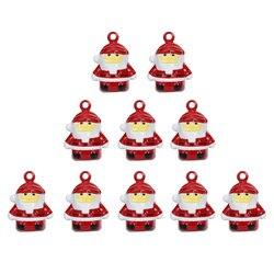 10pcs Small Bells Cute Delicate Mini Creative Decoration Santa Bells Party Props for Party Bag Pet Phone Christmas
