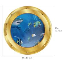 Underwater Fish Dolphin 3D Vivid Wall Stickers Art Decals Bathroom Kids Decor