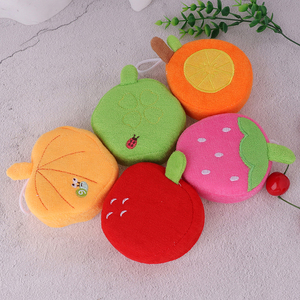 Fruit Baby Bath Brush Cartoon Soft Baby Bath Sponge Children Newbron Infant