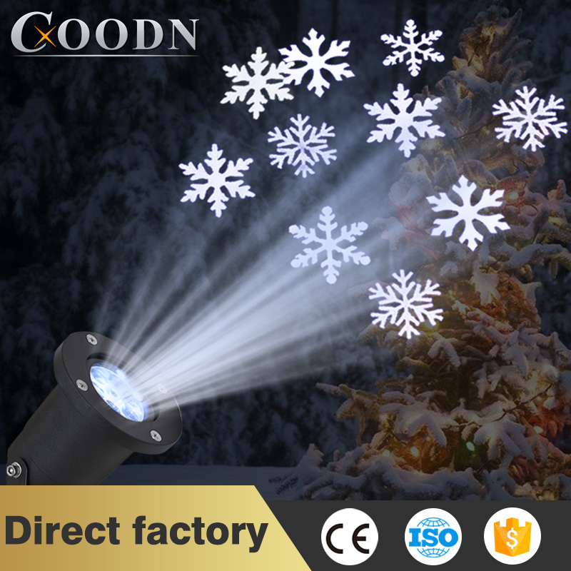 LED Fairy Lights Christmas Outdoor Waterproof LED Laser Projector Snowflake Dj Disco Light For Home Decoration
