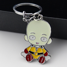 Anime One Punch Man Saitama Keychain Toys Action Figure Collectible Model PVC Dolls Keyring toys for Children Gift стоимость