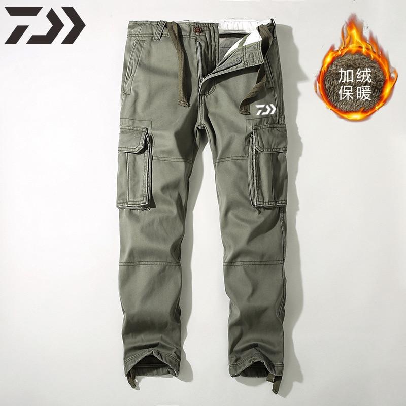 calças casuais masculino moletom multi-bolso