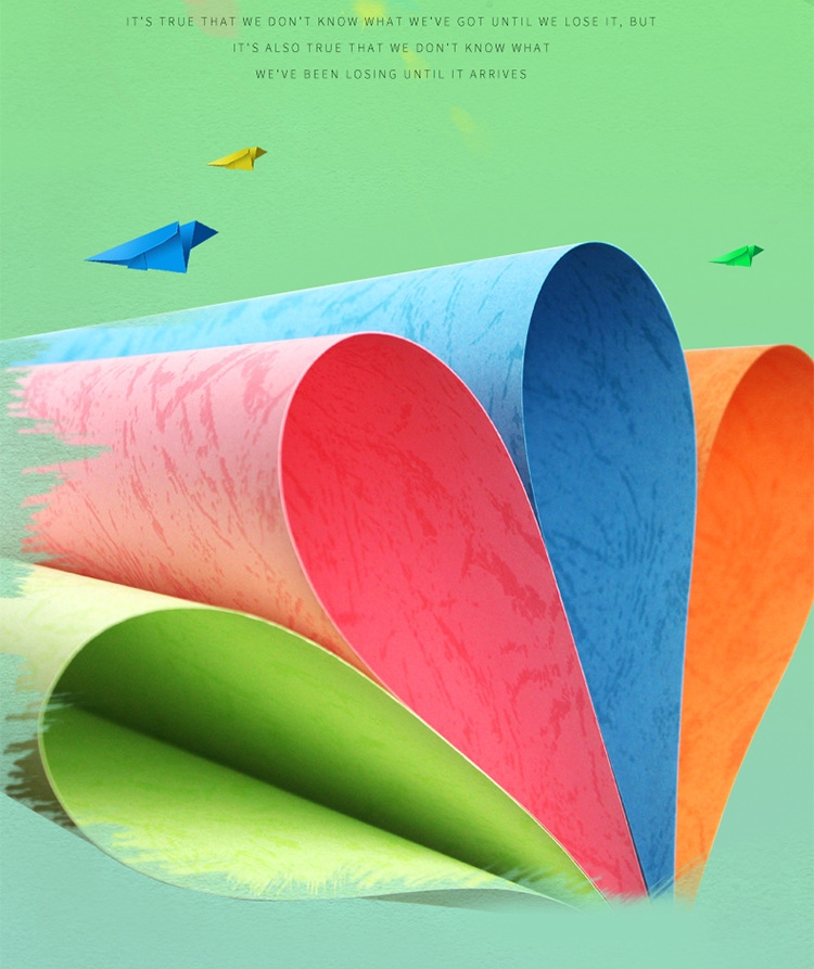 Wholesale A3 + Cover Paper 180g Plain Grain A4 Imitation Grain Paper Binding And Printing Paper Grain Paper
