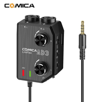 CoMica LINKFLEX AD3 Two channels XLR/3.5mm/6.35mm 3.5mm Audio Preamp Mixer/Adapter/Interface for 3.5mm DSLR Cameras Smartphones