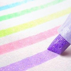 Image 1 - 5 pçs/set Japão Zebra bonito pérola cor Fluorescente cor da caneta Marcador marcadores Caneta caneta material escolar diário WKS18