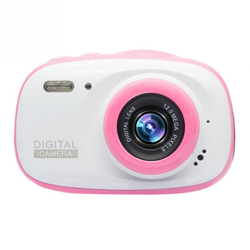 Подводная детская камера 12MP HD водонепроницаемая цифровая камера/4X цифровой зум/8 Гб карта памяти футляр для миниатюрной видеокамеры детская камера - Цвет: Черный